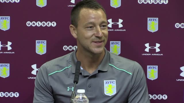 Press conference for former England captain John Terry's unveiling after he signed a oneyear deal to join Aston Villa from Chelsea