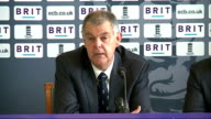 Press conference to announce England squad for Ashes tour of Australia Miller and Morris answering questions SOT / screen showing list of Ashes Squad...