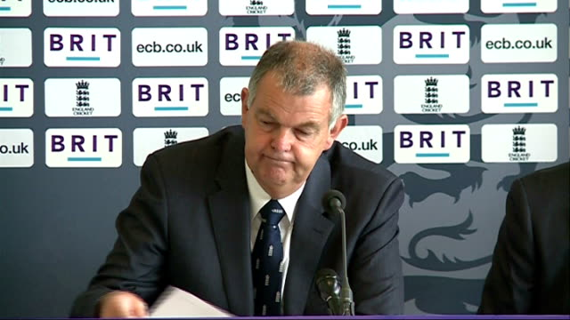 Press conference to announce England squad for Ashes tour of Australia Morris press conference SOT / Geoff Miller press conference SOT Announces...