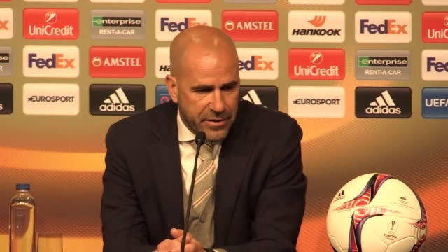 Press conference with Ajax manager Peter Bosz after his side's 20 defeat to Manchester United in the Europa League final He says he's disappointed to...