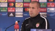 Press conference with AS Monaco manager Leonardo Jardim ahead of their Champions League last 16 second leg tie against Manchester City Jardim...