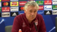 Press conference with Bayern Munich manager Carlo Ancelotti ahead of their game at Arsenal
