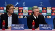 Press conference with Bayern Munich manager Carlo Ancelotti who speaks ahead of their Champions League match against Arsenal