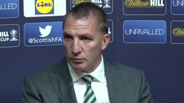 Press conference with Celtic manager Brendan Rodgers after the Hoops 21 Scottish Cup final win at Hampden