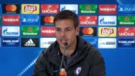 Press conference with Chelsea defender Cesar Azpilicueta ahead off his side's Champions League match again Atletico Madrid