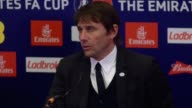 Press conference with Chelsea Manager Antonio Conte after the 42 against Tottenham in the FA Cup match at Wembley