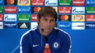 Press conference with Chelsea manager Antonio Conte ahead of his side's Champions League match again Atletico Madrid