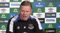 Press conference with Everton manager Ronald Koeman ahead of the game away to West Ham He talks about his side's injury situation – saying James...