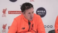 Press conference with exLiverpool players John Aldridge Robbie Fowler and Ian Rush following Liverpool Legends 43 win over Real Madrid Legends at...