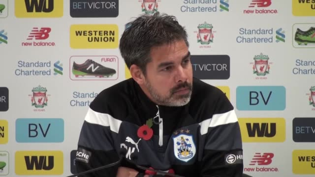 Press conference with Huddersfield manager David Wagner after the defeat against Liverpool