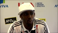 Press conference with Jessica Ennis and Phillips Idowu Idowu press conference SOT If i was a rubbish athlete they wouldn't compare me with Jonathan...