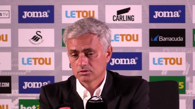 Press conference with Jose Mourinho after Manchester United took a 40 victory over Swansea He said he felt the team was confident with the ball He...