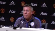 Press conference with Leicester City manager Craig Shakespeare following their 20 loss to Manchester United at Old Trafford