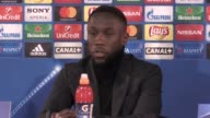 Press conference with Manchester City defender Bacary Sagna ahead of the Champions League round of 16 second leg tie against AS Monaco at the Stade...