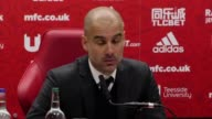 Press conference with Manchester City manager Pep Guardiola after his side's 2 2 draw with Middlesbrough in the Premier League Alvaro Negredo gave...
