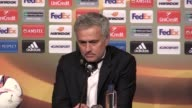 Press conference with Manchester United manager Jose Mourinho after his side's 20 win against Ajax in the Europa League final The win secures...