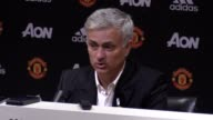 Press conference with Manchester United manager Jose Mourinho following their 20 win over Leicester City at Old Trafford