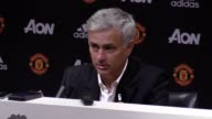 Press conference with Manchester United manager Jose Mourinho following their 20 win over Leicester City at Old Trafford He says Phil Jones is...