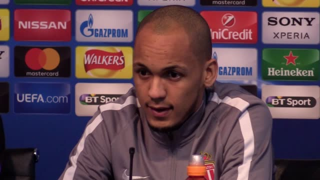 Press conference with Monaco manager Leonardo Jardim and player Fabinho ahead of their Champions League clash with Manchester City on February 20