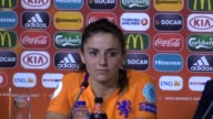 Press conference with Netherlands Women coach Sarina Wiegman after their 30 win over England Women in the Women's European Championship Semifinal