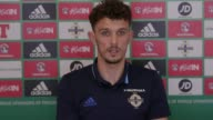 Press conference with Northern Ireland defender Tom Flanagan ahead of the World Cup qualifier against San Marino He explains his Irish qualification...
