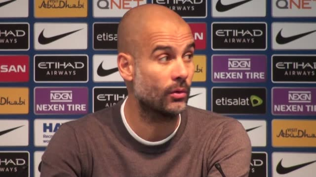 Press conference with Pep Guardiola after his side's 30 win over Burnley in the Premier League