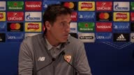 Press conference with Sevilla manager Eduardo Berizzo following their 22 Champions League draw against Liverpool He talks about how he came to be...