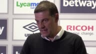 Press conference with West Ham manager Slaven Bilic after his side's 32 loss to Tottenham in the Premier League despite a late rally at the London...