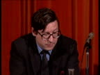 Right of Reply Bill **** FOR RUSHES SEE CR87 amp CR92 ENGLAND London INT Delegates seated Stewart Purvis seated Meeting Max Hastings speaking SOF...