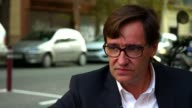 Pressure on Catalonia not to declare independence on eve of announcement Salvador Illa setup shots and interview SOT most important crisis since...