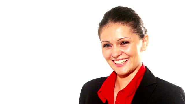 Schöne business-Frau lächelnd selbstsicher