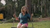Pretty Girl on Rope Swing