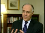 HOL imposes sunset clause ENGLAND London INT Michael Howard MP interview SOT we've offered Mr Blair a lifeline/ he can have the bill with a time...