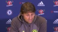 Preview of Premier League matches ENGLAND Surrey Cobham INT Antonio Conte press conference SOT