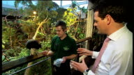 Preview of 'Rainforest Life' at London Zoo ENGLAND London London Zoo INT Reporter to camera George Sunter LIVE interview SOT CUTAWAYs Shots of...