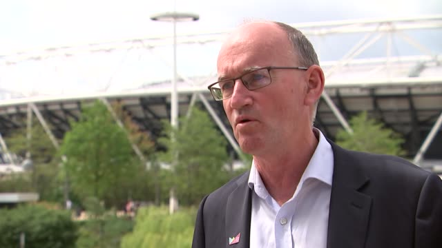 Preview of third London 2012 Anniversary Games Interviews ENGLAND London Olympic Park EXT Neale Coleman interview SOT General views of Olympic...