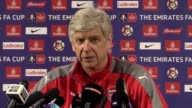 Preview press conference with Arsenal manager Arsene Wenger ahead of Sunday's FA Cup semifinal against Manchester City