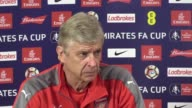 Preview press conference with Arsenal manager Arsene Wenger ahead of the FA Cup final against Chelsea