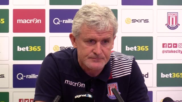 Preview press conference with Stoke manager Mark Hughes ahead of the team's Premier League match against Bournemouth Hughes talks about Aaron Lennon...