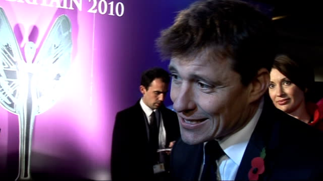 Red carpet arrivals and interviews Ben Shepherd interview SOT Fantastic to celebrate extraordinary people of this country / Gives story of one of...