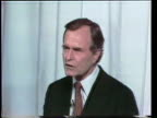 Primary debate sponsored by the League of Woman voters between Ronald Reagan and George W H Bush moderated by Howard K Smith / Bush and Reagan give...