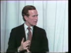 Primary debate sponsored by the League of Woman voters between Ronald Reagan and George W H Bush moderated by Howard K Smith / Bush and Reagan...