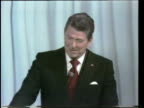 Primary debate sponsored by the League of Woman voters between Ronald Reagan and George W H Bush moderated by Howard K Smith / Ronald Reagan denies...