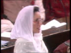 Prime Minister Bhutto wins No Confidence vote PAKISTAN Islamabad Parliament Chamber TCMS Benazir Bhutto speaking TMS MP banging fists on tables...