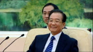 Prime Minister David Cameron joins British trade delegation visit meeting with Chinese Premier Wen Jiabao David Cameron seated for talks with Chinese...