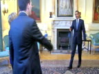 Prime Minister Gordon Brown and President Barack Obama welcome Secretary of State Hillary Clinton Foreign Secretary David Milliband and Chancellor...
