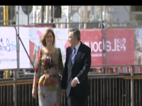 Prime Minister Gordon Brown and wife Sarah Brown arrive for Labour Party annual conference Brighton 27 September 2009