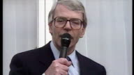 Prime Minister John Major campaigning in Kent on his famous soapbox Sky News Judith Dawson reports on April 03 1992