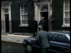 Prime Minister Major's first cabinet meeting PMQ's ***INCORRECT ENGLAND London Downing St Car pulls up as Home Sec Kenneth Baker out Michael...