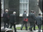 Prime Minister Major's first cabinet meeting PMQ's MP's leaving No10 Tonight as Major arrives to speak at Sir Fergus Montgomery constituency party...